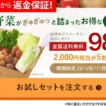大地宅配で有機野菜2,000円相当が980円!しかもステキな送料無料。