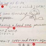 短文の英語日記でOK♪文法をおさらいしたり、知識の整理したりを楽しむ日々。