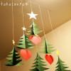 クリスマス・モビール「クリスマス・ツリー6」を飾りました。