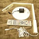 無印「LEDスリムデスクライト」リビング学習用に購入。